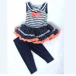 Sweet Heart Rose Sailor Dress w/leggings 18 M